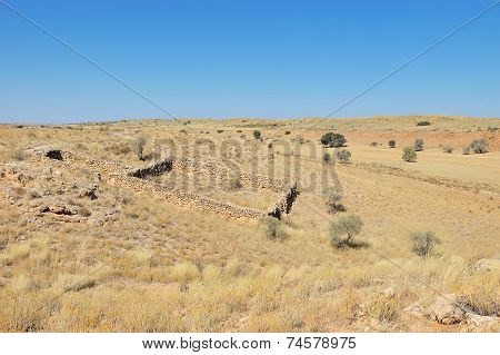 Historical Settler Stone Enclosure For Sheep And Cattle