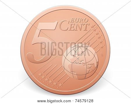 Five Euro Cent Coin