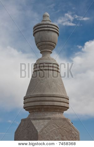 Finial on Tombstone Marker