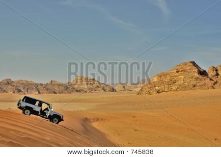 Jeep Car In Desert