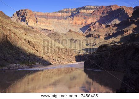 Colorado River Running Though Grand Canyon National Park