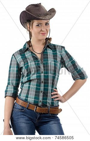Image of smiling cowgirl
