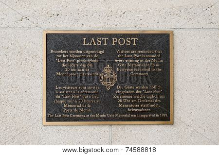 The Last Post Sign