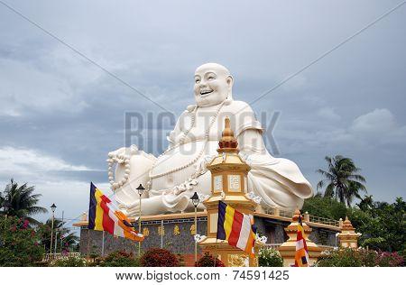Buddha statue in a Buddhist Temple in Vietnam