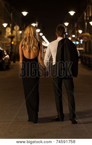 Elegant Couple In The City
