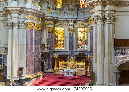 Altar Of Berliner Dom, Biggist Church Of Berlin, Germany