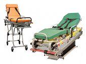 picture of stretcher  - stretcher under the white background - JPG