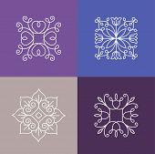 picture of monogram  - Vector abstract emblems  - JPG