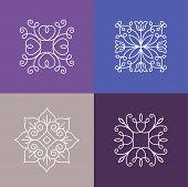 stock photo of monogram  - Vector abstract emblems  - JPG