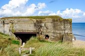 pic of ww2  - Germany bunker WW2 Utah Beach is one of the five Landing beaches in the Normandy landings on 6 June 1944 during World War II - JPG