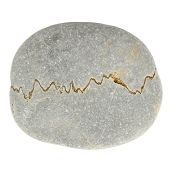 picture of feldspar  - A roundish gray stone with an electrocardiogram - JPG
