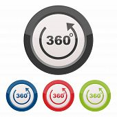 image of degree  - 360 degrees icon as a symbol of 360 degrees - JPG