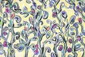 pic of impressionist  - Floral background illustration - JPG
