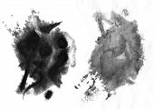 picture of brighten  - Drop down and soft Chinese ink effect on wet paper.