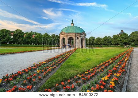 Munich pavilion and garden