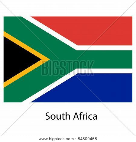 Flag  Of The Country  South Africa. Vector Illustration.