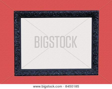 Black Frame with Canvas