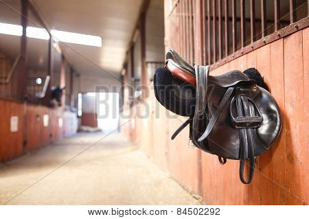 Leather Saddle Horse
