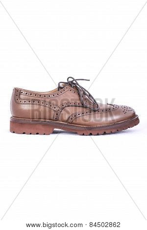 Men's Shoes On A White Background