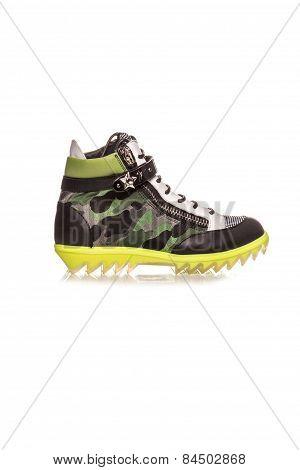 Sneakers Khakion White Background