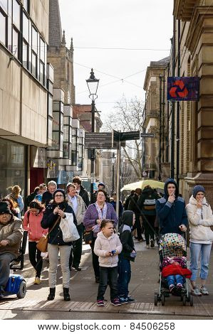 Nottingham busy shoppers