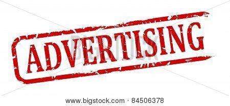 Damaged Oval Stamp - Advertising
