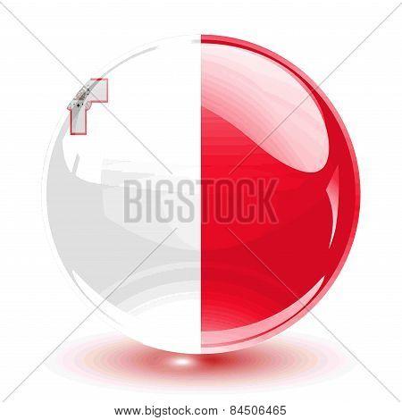 3D crystal sphere Malta