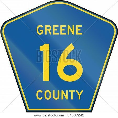 County Route Shield - Greene County