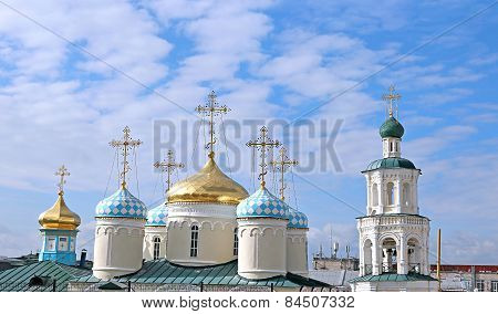 Domes Of Nicholas Cathedral In Kazan