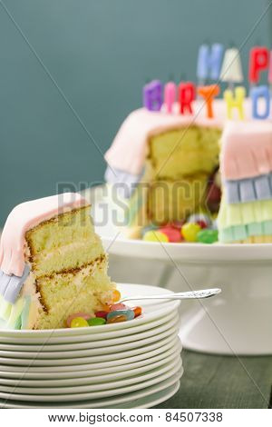 Pinata Birthday Cake