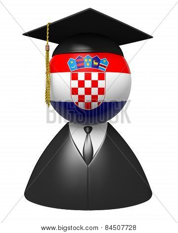 Croatia college graduate concept for schools and academic education