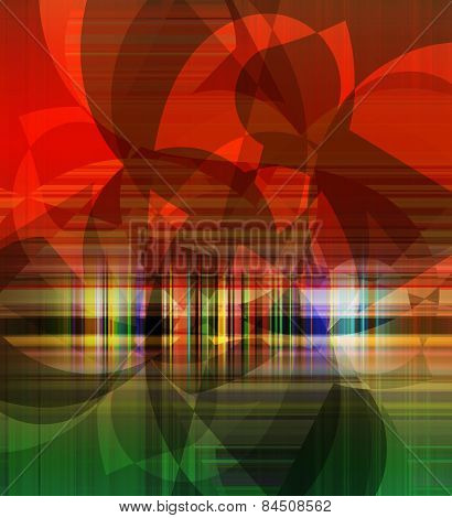 Abstract Flat Decorative Artwork