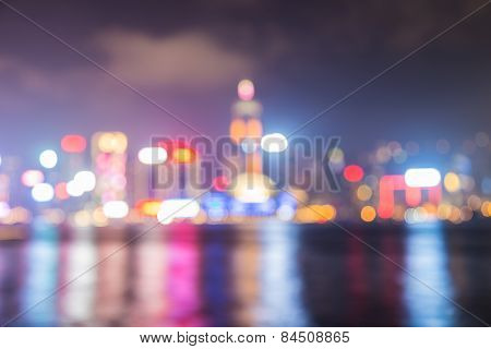 City night bokeh abstract background.