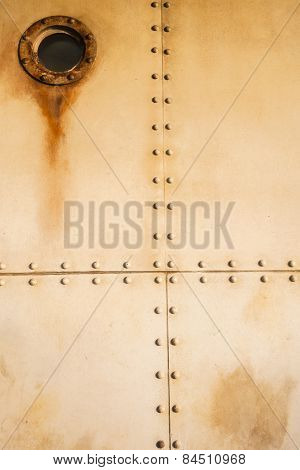 Metal Rivets Porthole Ship