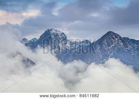 Majestic Views Of The High Mountains. Nepal. Himalayas. Lirung.