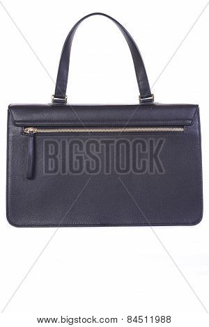 Black Handbag On A White Background