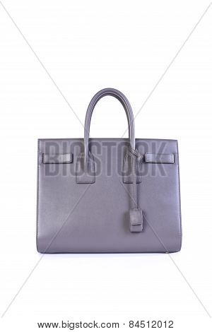 Lilac Handbag On White Background