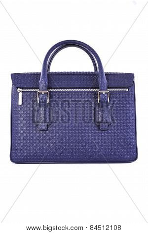 Blue Handbag On A White Background