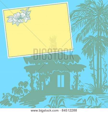 Bungalow and palms