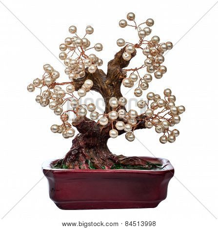 pearl handmade bonsai tree