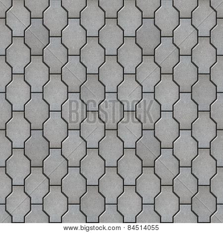 Gray Wavy Paving Slabs. Seamless Tileable Texture.