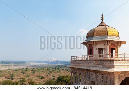 Musamman Burj Of Red Agra Fort
