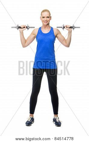 blonde woman wearing fitness clothing