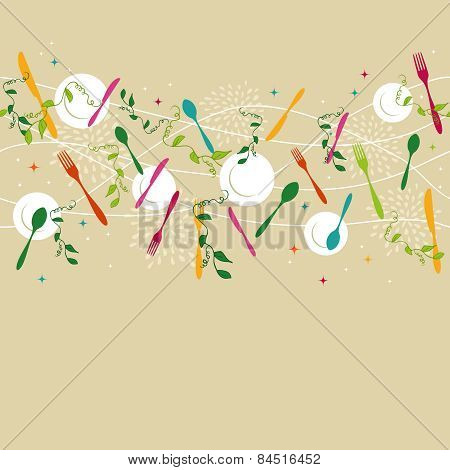 Silverware Pattern Illustration