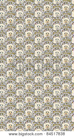 kitty in the flower bed pattern