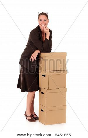 Businesswoman Postal  Package