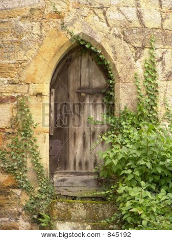 old castle wooden door