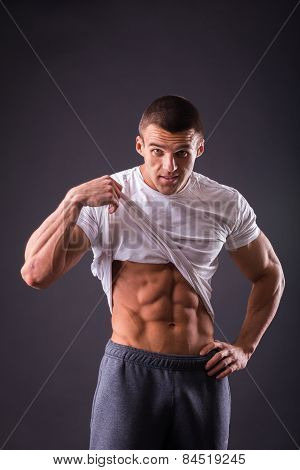 Abdominal muscles strong man.