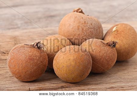 Tropical fruits longan, fruit background