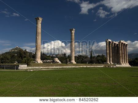 Olympieion Ruins In Athens Greece.